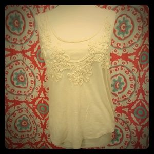 LC Lauren Conrad Scoop Sleeveless Cotton Blend Top